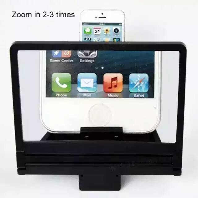 Mobile Phone Screen Magnifier Bracket Enlarge Stand For iphone 6/5S/Samsung/HT