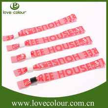 Factory Custom One Time Wristbands For Events/Fabric Cloth Wristband
