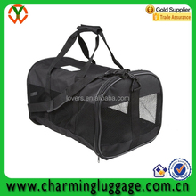 Fashion black pet Carrier with large capacity