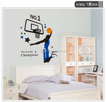 Home decoration basketball player wall sticker for sitting room wholesales