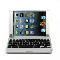 Hot sell wireless bluetooth keyboard for iPad mini4, for ipad keyboard case cover sliver
