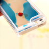 clear PC floating fish mobile phone case for samsung/ Iphone 5/5S/6/6plus