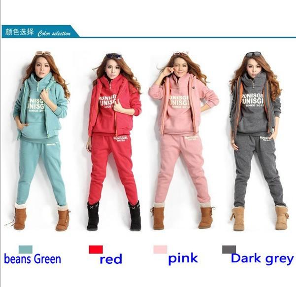 wholesale-womens fashion trends elegant sports hoodies coat+vest+