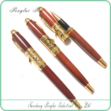 wooden hand painted decorative wooden pen for christmas wholesale