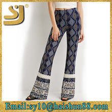 Ladies trousers designs, hot pants sexy nude women photos printed, flared trousers