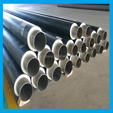 pu foam and hdpe pipe casing bonded insulated duct for district heating