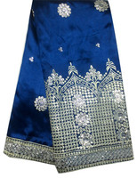 2015 best selling royal blue african george lace Guipure lace cord lace made in China factory party dresses fabrics