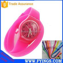 silicone long strap fashion girls quartz hand watch 2015,cheap watch