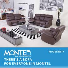 genuine italy leather recliner sofa set