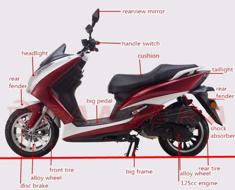 Big Pedal  125cc Scooter Mopeds (14).jpg