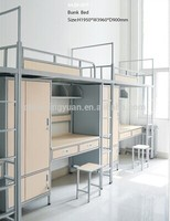 Metal school furniture dormitory bunk beds for students