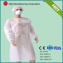 PP non woven 115*137 white color dental dispos gown