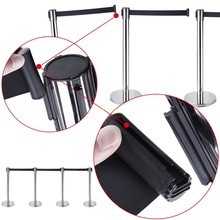 Stand Queue Line Post Barrier, metal Retractable Queue Stand