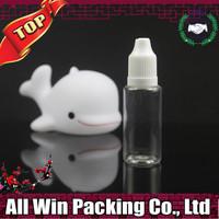 popular empty whosale 15ml pet plastic bottle e cig bottle with childproof cap