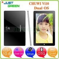 Chuwi vi10 Win8.1+Android 4.4 Intel Z3736F 64bit Quad core 10.6 inch 2G 32G tablet pc