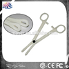100% new plastic body piercing tools disposable forceps,EO gas sterilized slotted sponge disposable piercing forceps
