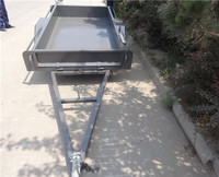7x5ft checker plate box trailer