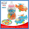 2016 cheapest price toy candy mini helicopter toys in big baby bottle promotion small candy toy