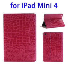 Paypal acceptable Crocodile Texture stand case for ipad mini 4 cover