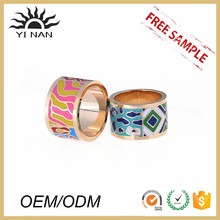New Retro Chinese Style Jewelry Factory Wholesale Gold Plated Enamel Ring