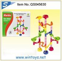 45pcs kids plastic block marble run magnetic building block set toy