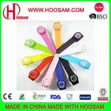 Colorful silicone slap watch/Fashion kids silicone slap watch