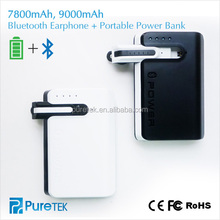 Best Quality Smart Power Bank Case 7800mah Power Bank With Bluetooth Earphone 4.0 For Apple ios7 ios8 ios9/ iPhone Samsung iPad