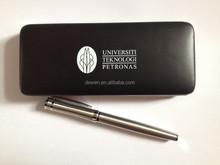 2015 Fashion--High grade pen set gift penfor university ,gun color roller pen, with leather pen case