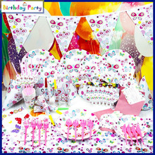 good selling paper birthday theme party supplies set for kids