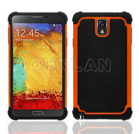2014 new products Galaxy Note 3 hard silicone hybrid case with football design