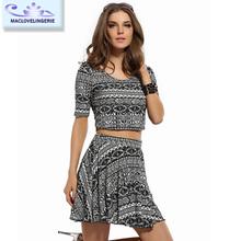 Hot Sale Women Latest Design Fashion Mini Dress 2015 China Supplier Casual Sexy Lady 2 Set Dress