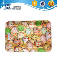 Plastic serving plate with painted eggshell