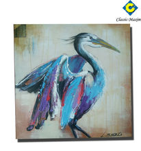 China wholesale high quality birds painting glossy oil canvas