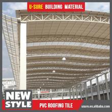 Anti corrosive warehouse 3 layers plastic pvc roof tile