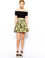 Beautiful Young Girls Short Skirt In Quilted Floral Print