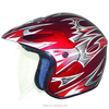 china cross motorcycle helmets 3/4 open face dot RED