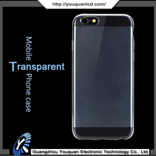 100% High quality Transparent Crystal Soft TPU Mobile Phone case for iphone 6