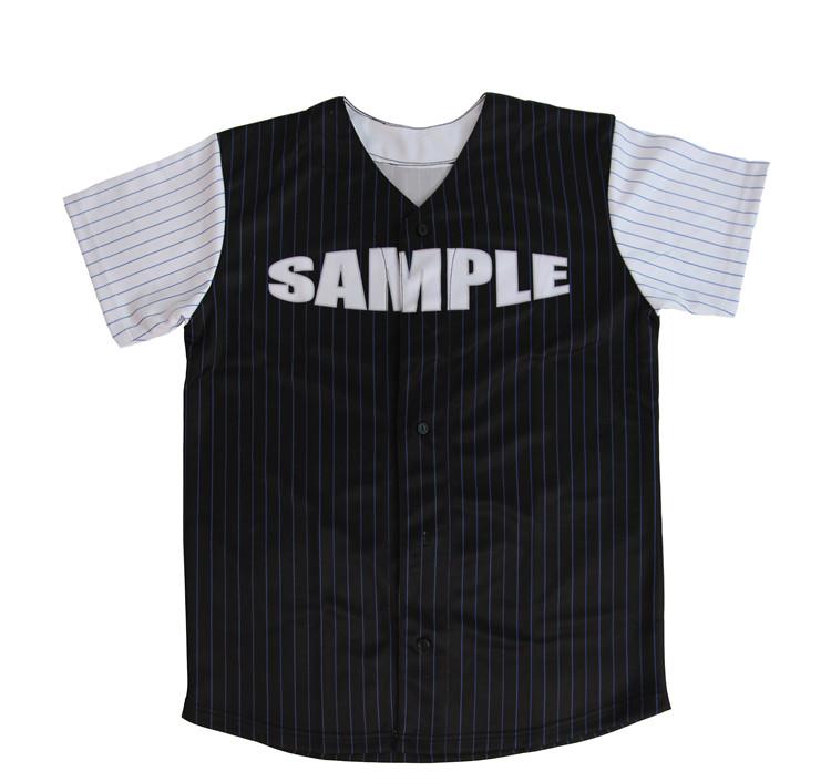 Blank Black Baseball Jersey