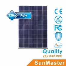 High quality poly 220w solar panels solar led boat lights