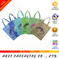 reusable foldable custom non woven shopping bag for wholesale