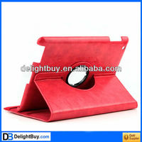 360 degree rotating Red 360 Rotatable Leather case for iPad2