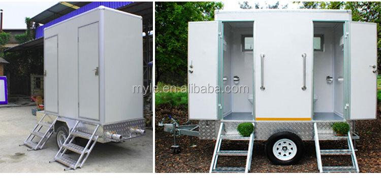 Portable toilettes avec remorque mobile remorque for Cabine wc exterieur
