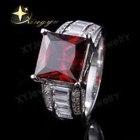 Jewelry 925 silver square cz stone men ring XYR909242