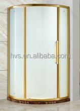 Sliding Open Style Shower enclosure golden design