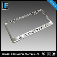 Custom high quality stainless steel car license plate frame American metal license plate holder