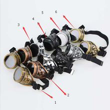 Manufacturers safety steampunk dance fashion goggles, welding dust goggle restoring ancient ways, labor protection pilot glasses
