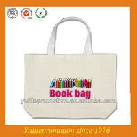 Eco friendly natural cotton fancy school book bag gift bag
