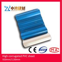 PVC resin plastic spanish glazed roof tile