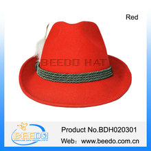 Red color oktoberfest hat cap german hillbilly decorations dress