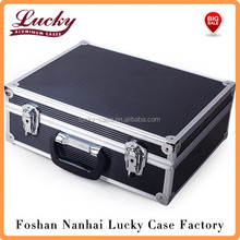aluminum case equipment box aluminum tool box Metal Garage Portable box black and silver colour
